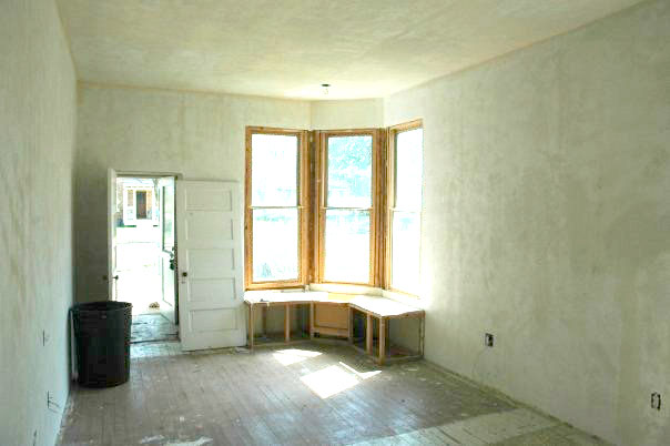 Bedroom at 109 E. Cleveland before renovation.