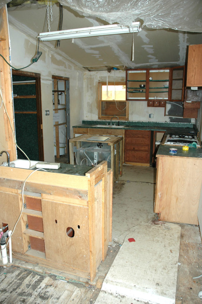 The kitchen at 109 E. Cleveland before renovation,