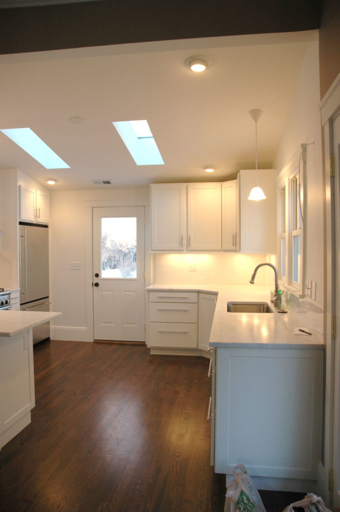 The renovated kitchen.