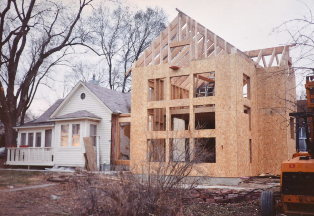 The addition to the 202 Grant Street home.