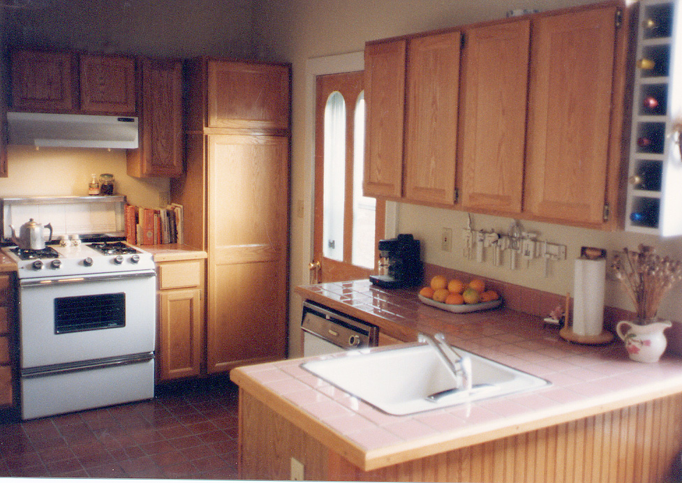 The kitchen after remodel at 202 Grant Street, taken about 1993.