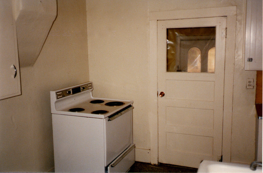The kitchen before remodel at 202 Grant Street.