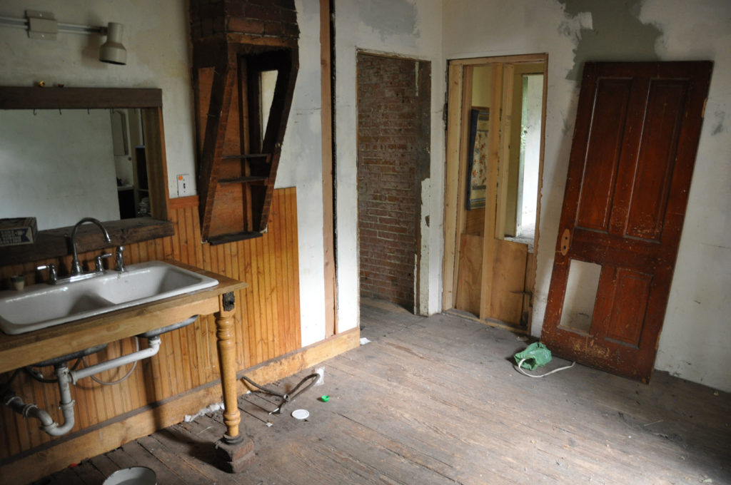 The kitchen prior to renovation.