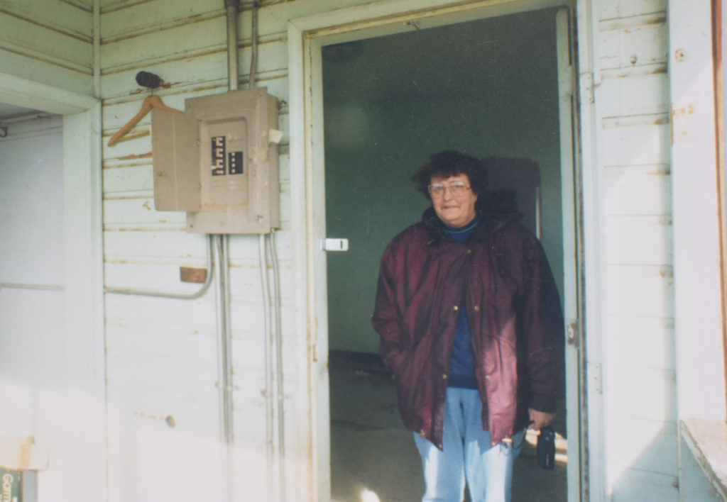 Lafayette resident Lorraine (Thomas) Bateman pictured in 1995 at the Thomas House, which belonged to her grandmother Anna Waneka Thomas.