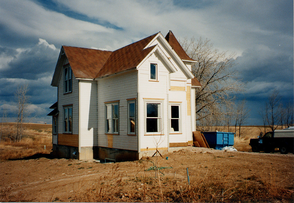 The Thomas House on its new foundation.
