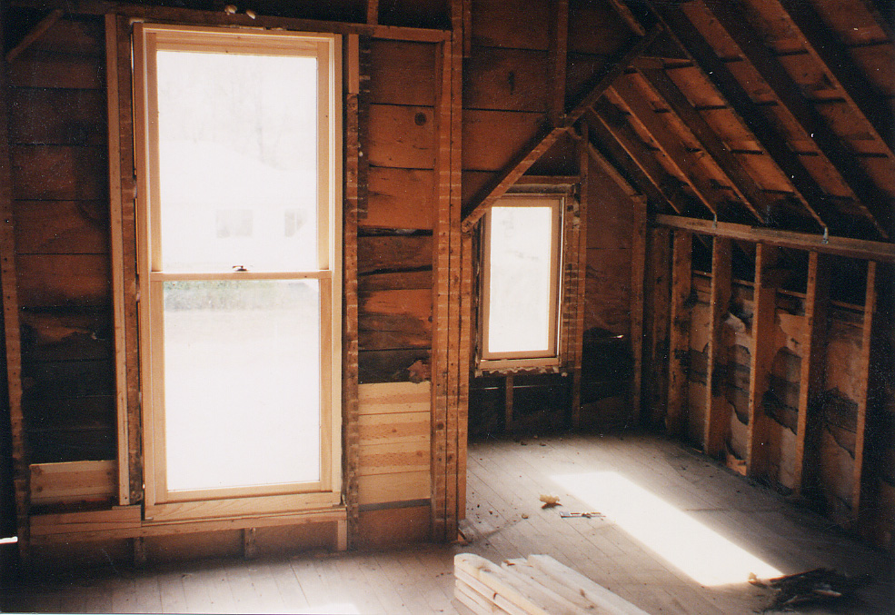 The master bedroom during construction.