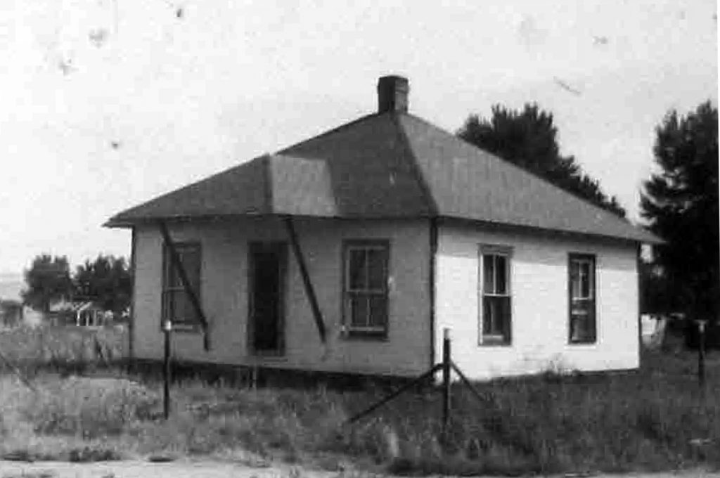 The Walter Vogl House in 1948, about 2 years after it was moved from the Columbine Mine.