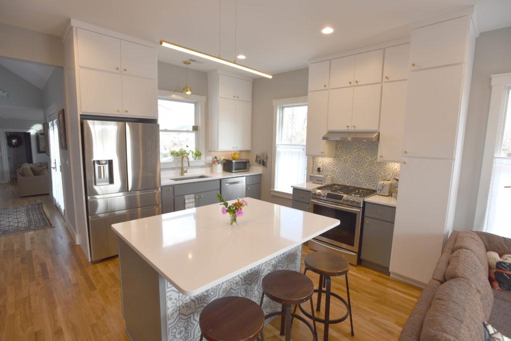 Finished kitchen at 311 E Oak.